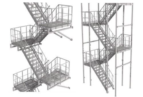 Лестницы и площадки обслуживания оборудования