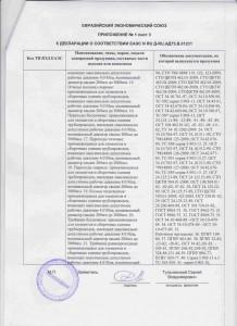 EAC Декларация о соответствии. Приложение 1, стр.3